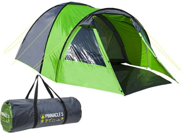 Summit – Pinnacle Five Person Dome Tent – Green