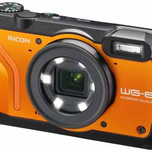 Ricoh WG-6 20MP 5x Zoom Tough Compact Camera – Orange