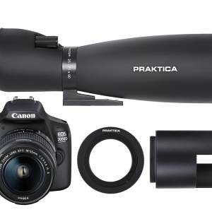 PRAKTICA 25-75x90mm DigiScoping Kit with Canon EOS 2000D Camera