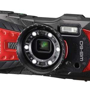 Ricoh WG-60 16MP 5x Zoom Tough Compact Camera – Red