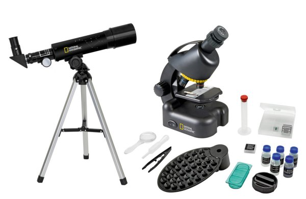 Bresser National Geographic Set: 50/360 AZ Telescope and 40x?640x Microscope