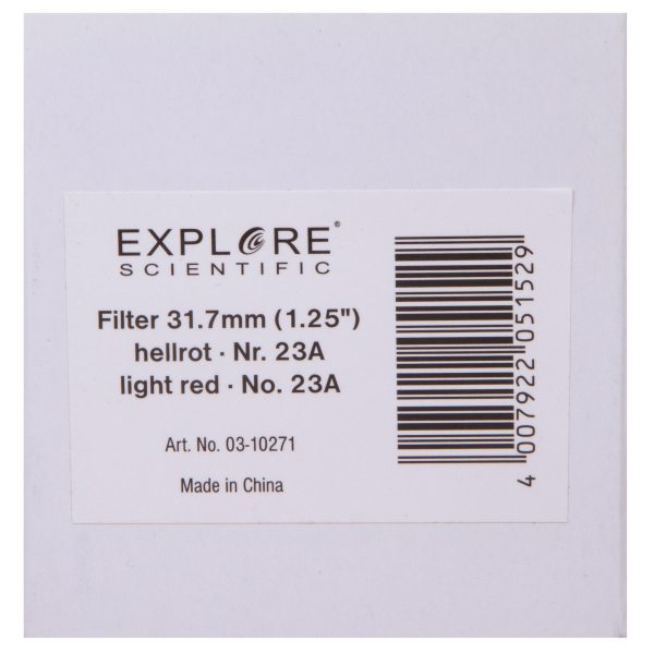 Explore Scientific Light Red N23A 1.25″ Filter