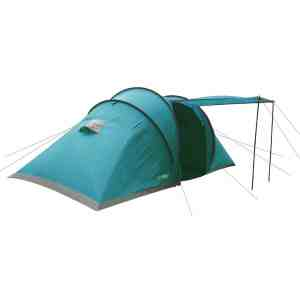 Highlander Cypress 4 Person Family Tent 2 Bedrooms Festivals Camping Dark Teal