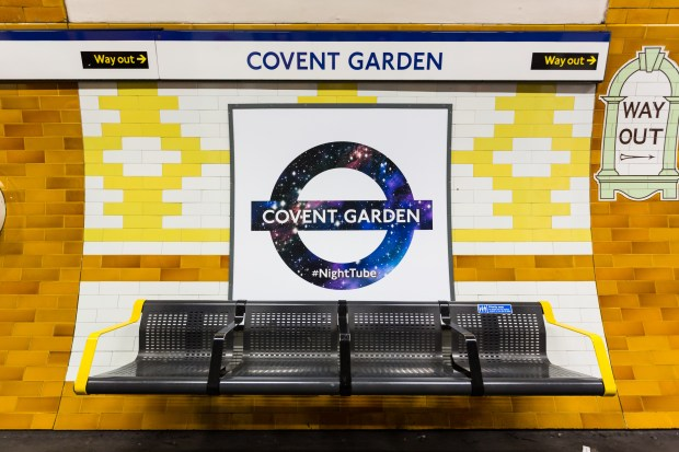 Special Roundels on the Piccadilly Line to mark the beginning of Night Tube service. (Photo courtesy of Transport For London)