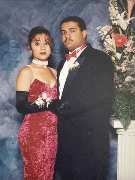 1: Maricela and Mando at Santa Monica High School's 1993 prom (Photo courtesy of @madeinsamo/Veteranas and Rucas) / 2: Marible in Santa Ana in 1997 (Photo courtesy of @calypssoo/Veteranas and Rucas)