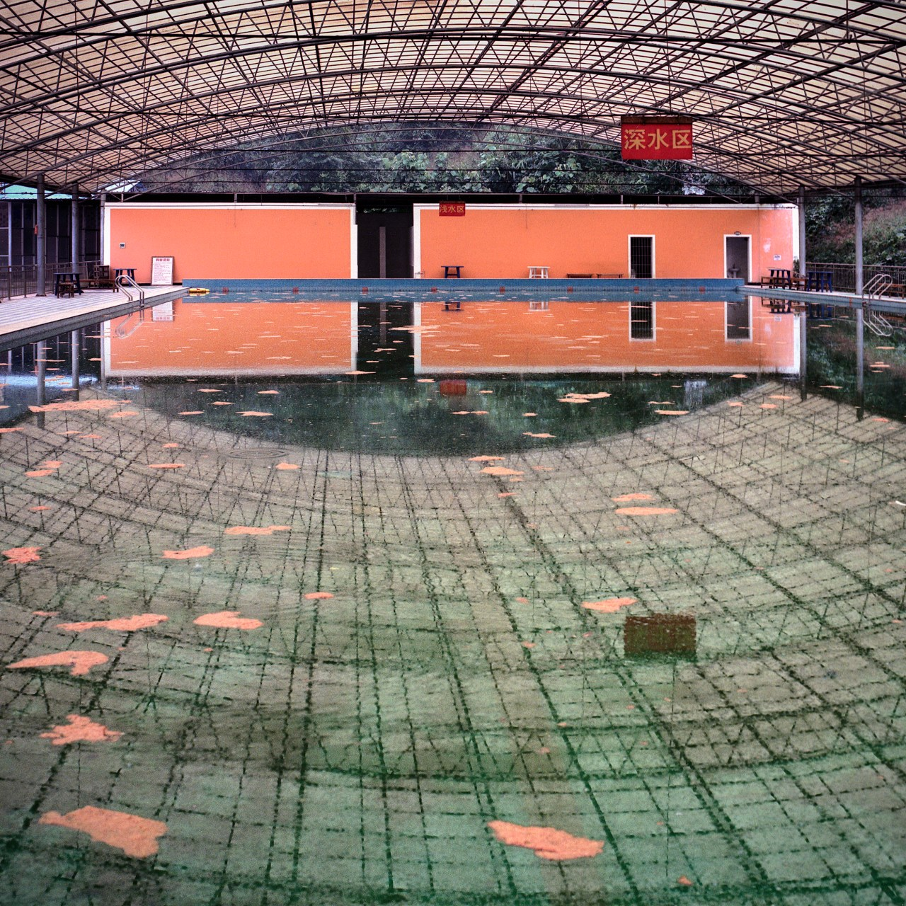A swimming pool was built as part of a sports complex intended for residential use.