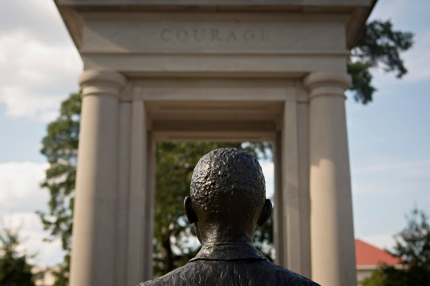 The James Meredith Civil Rights Monument.