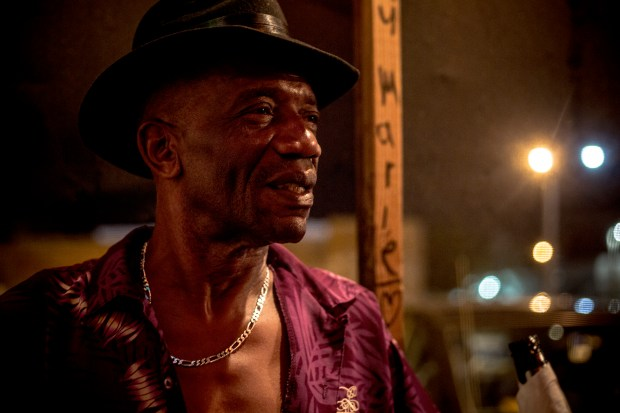 Eddie, a Clarksdale resident, stands for a portrait at Ground Zero Blues Club.