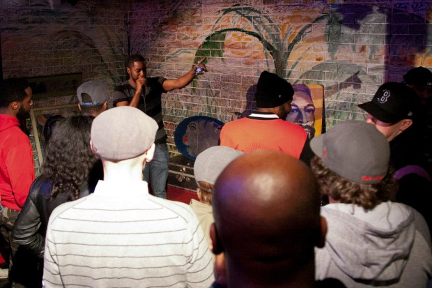 PyInfamous performs at Soul Wired Café, Jackson MS.