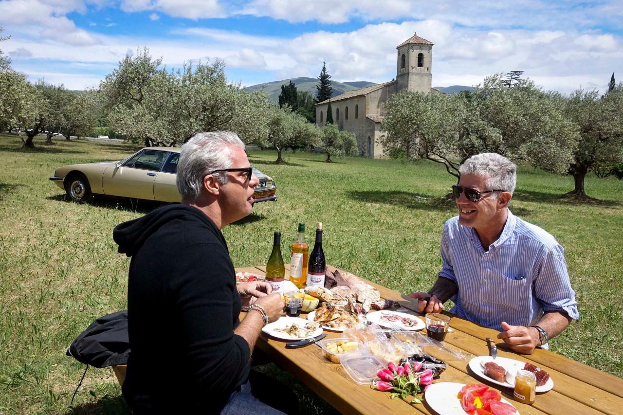 Bourdain with Eric Ripert.