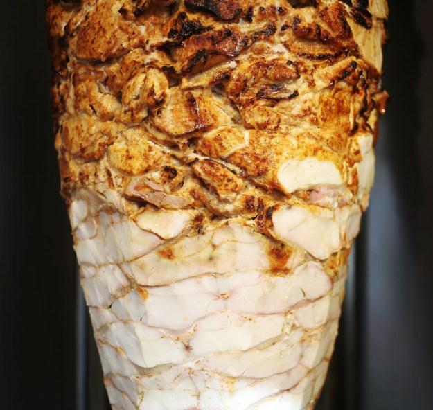 1. Lamb shawarma. / 2. Chicken shawarma.