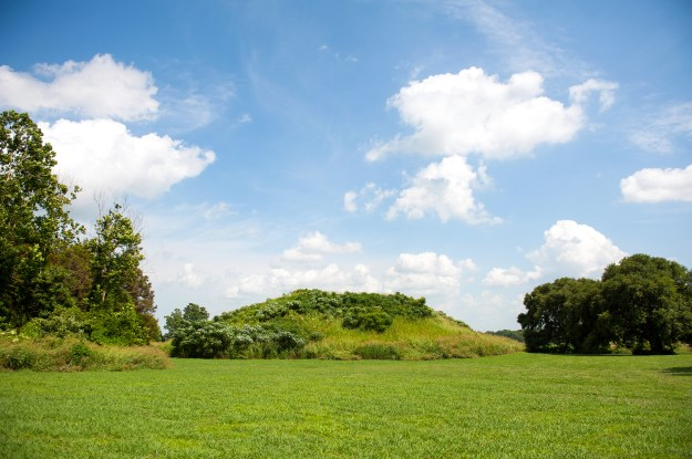 1. The mounds at Winterville, though unassuming, are one of the most visible remnants of the Mississippian presence in the Delta. / 2. Farmers often find Mississippian artifacts and arrowheads in their fields.