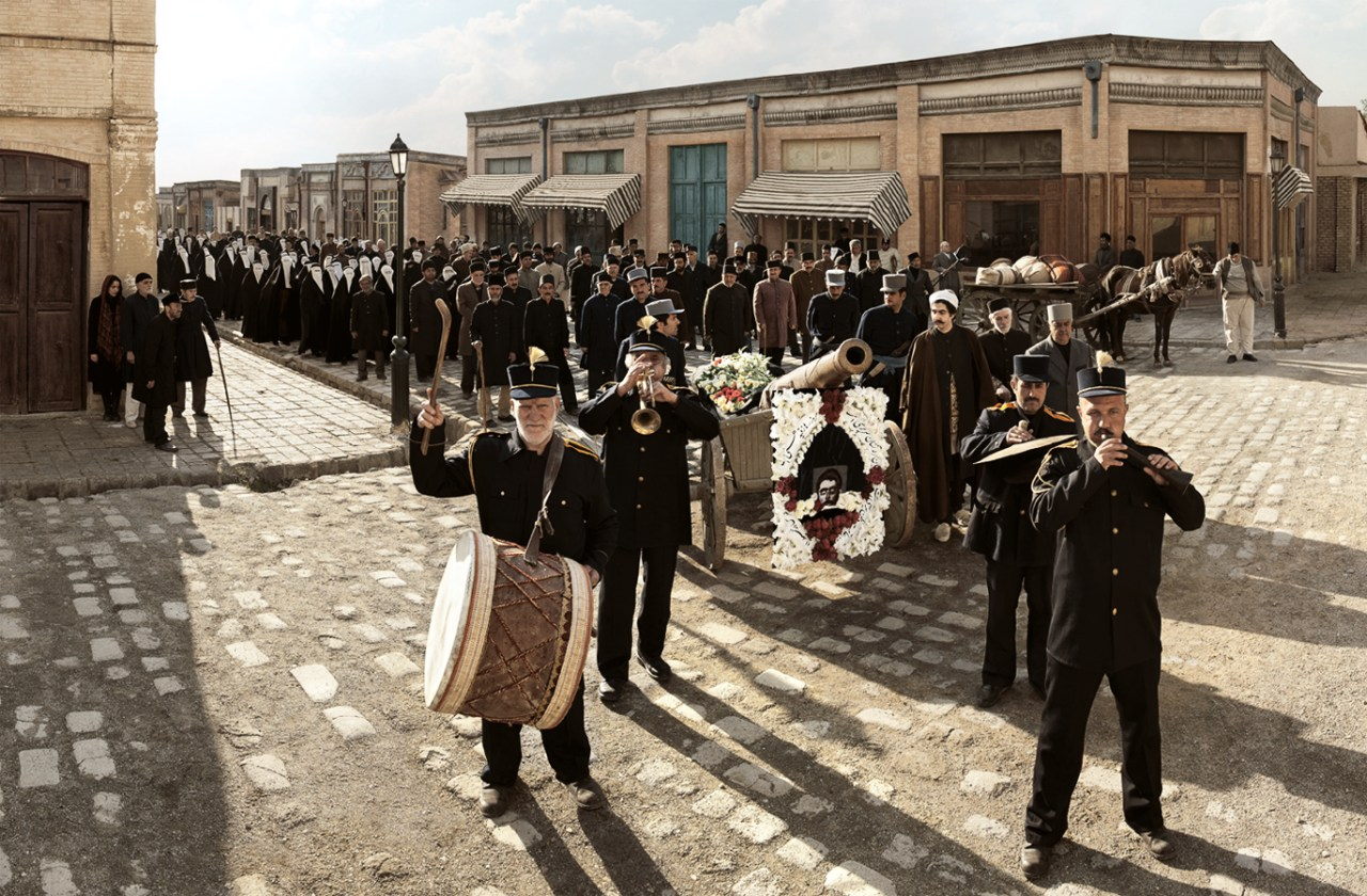 A funeral procession for Colonel Mohammad Taghi-Khan Pesyan, who was beheaded on October 7, 1921.