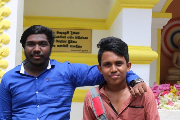 Pradeep Kumara and his friend from Kurunegala.