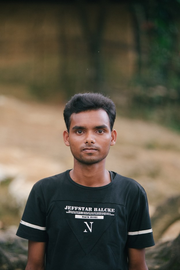 """My name is Mohammed Shofi. I am 20 years old and from Buthidaung, Burma. The Burmese military came into my village and started to round up and shoot many men and women. I want the world to call for justice for what happened and for action to be taken for the people that died."""