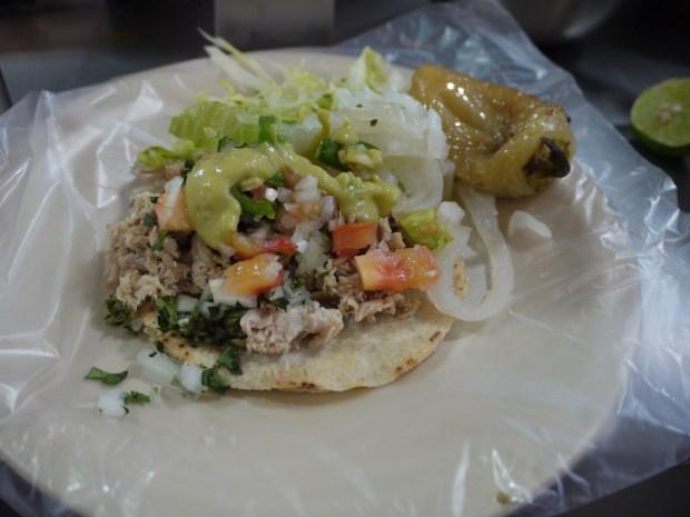 Suckling pig taco. (Photo by Bill Esparza)