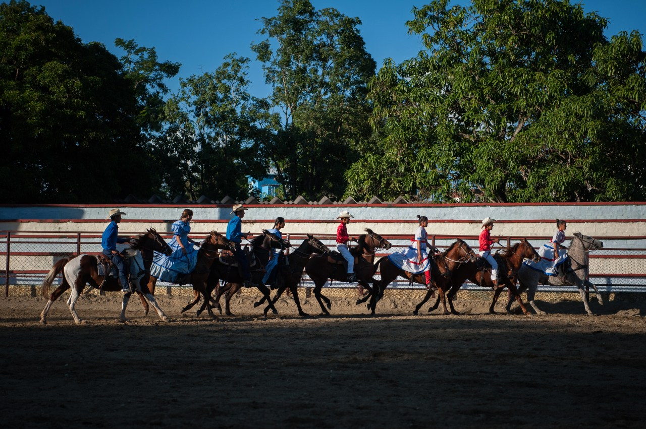 Scenes from a rodeo in Sancti Spíritus, a city in the center of the island.