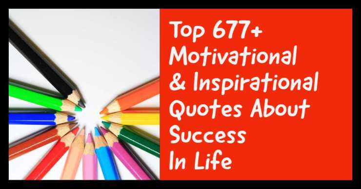 Motivational Inspirational Quotes About Success In Life