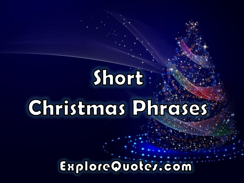 short christmas phrases images