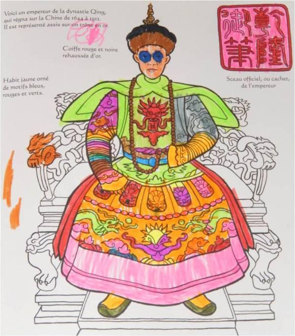 coloriage empereur de chine usborne