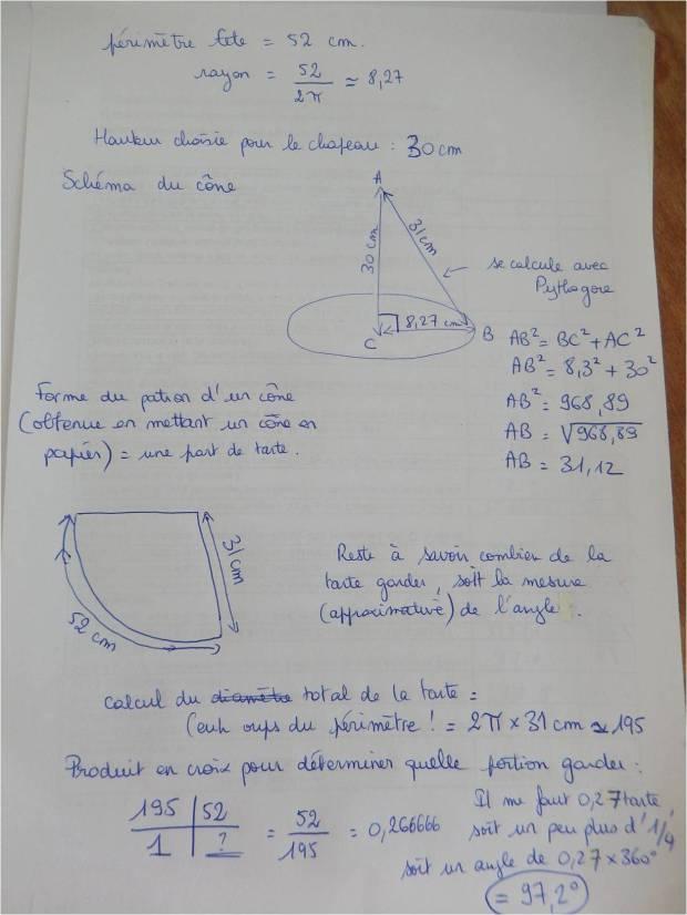 travailler sur cône pythagore proportionnalité avec halloween