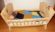 fabrication maison d'un berceau en bois pour poupée