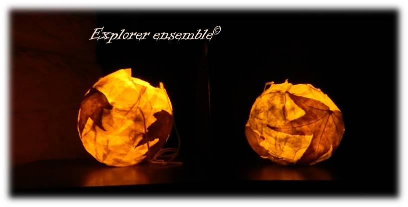 Lanternes d'automne en papier mâché