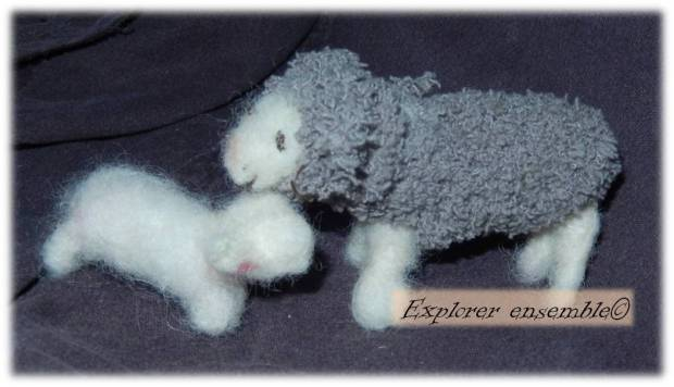 pattern felt sheep