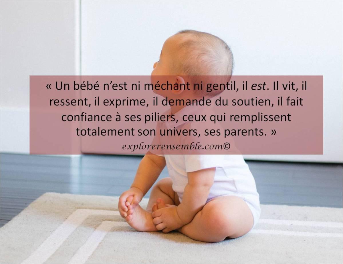 """Non mon bébé n'est pas """"sage"""""""