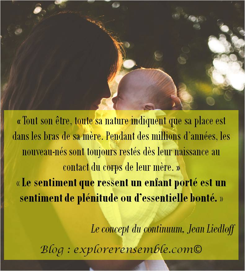 Citation #1 : Porter son enfant...