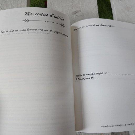 Un cahier d'écriture pour écrire son autobiographie
