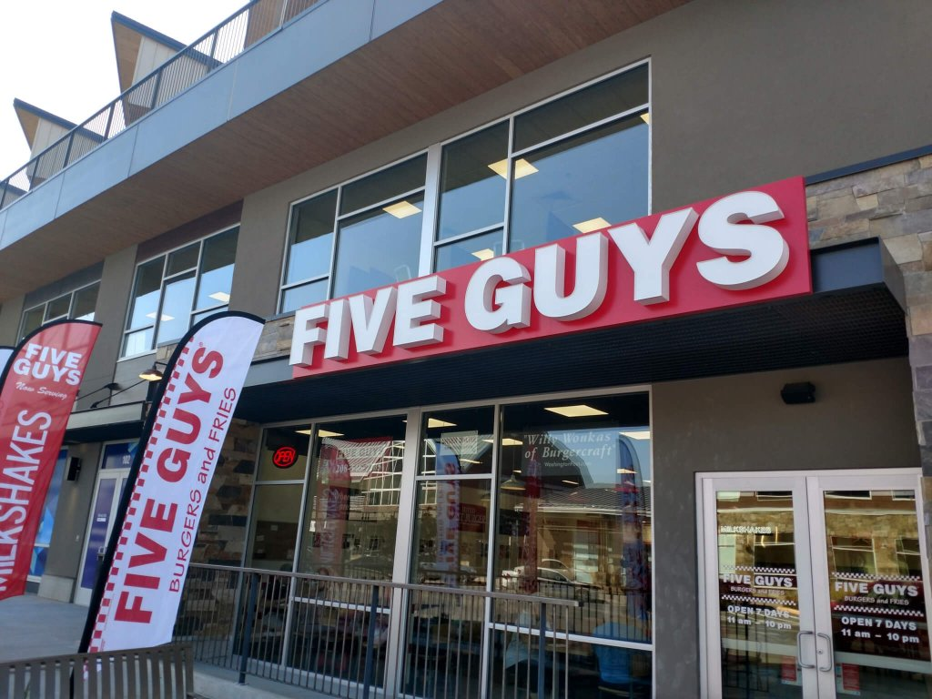 five guys burgers and