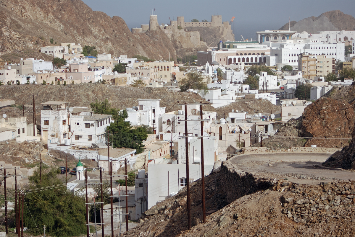 A view of the Old Muscat, not far from Muttrah.....still very modern!
