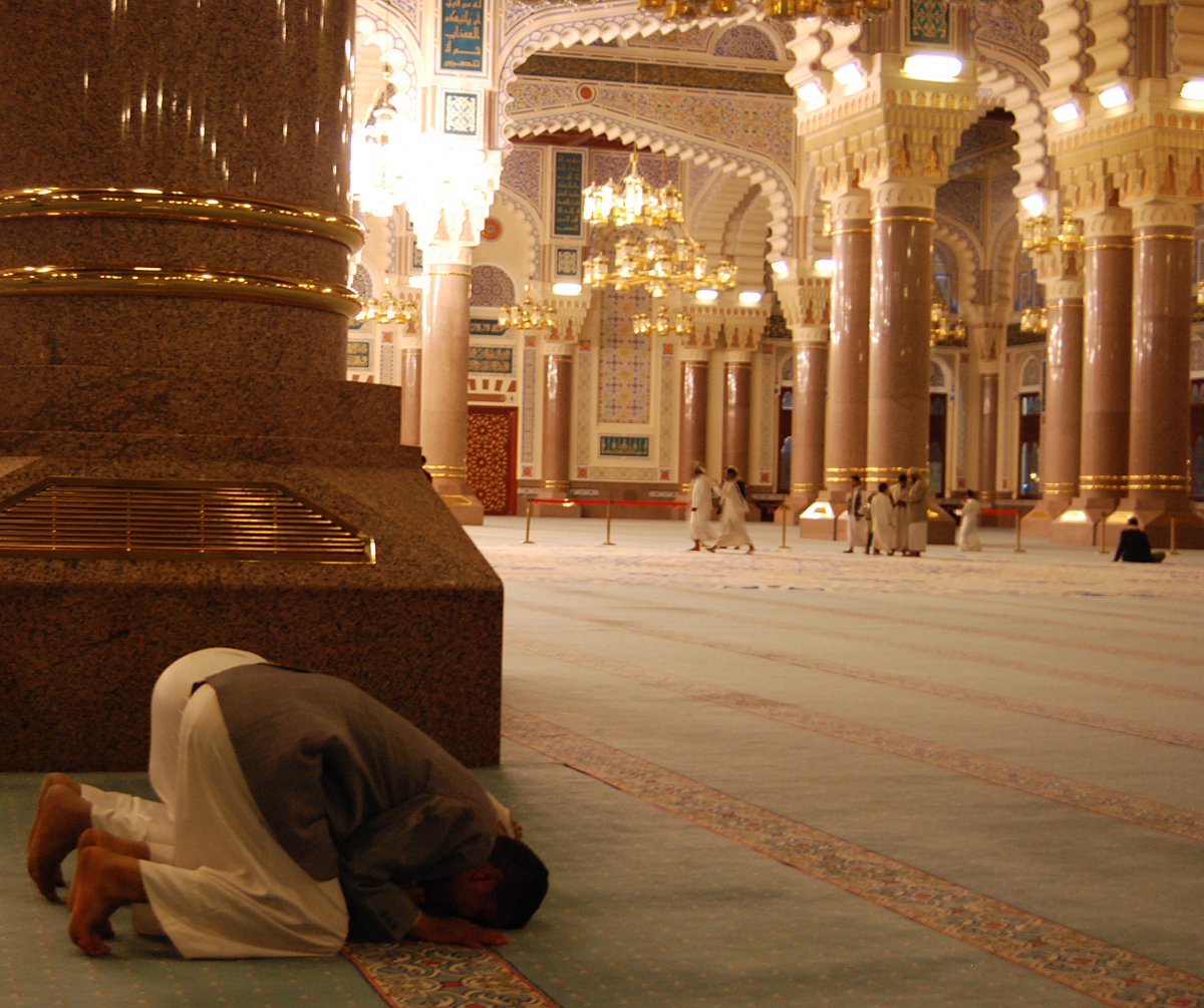 Praying at the mosque....