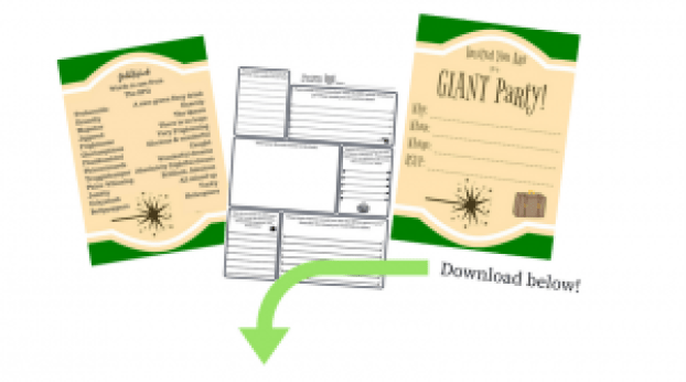Giant party printables preview