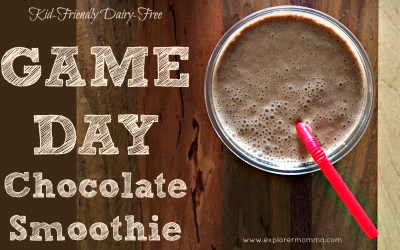 Kid-Friendly Game Day Chocolate Smoothie