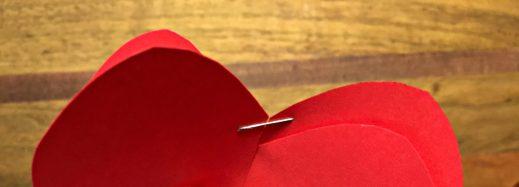 Kids' Valentine heart with staple