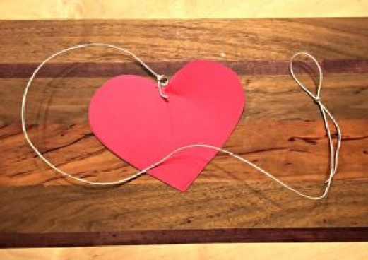 Kids' Valentine heart with twine