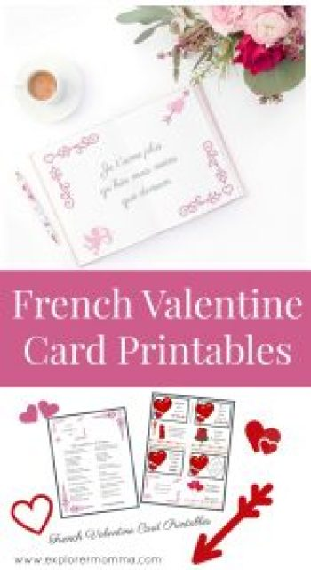 Valentine card printables