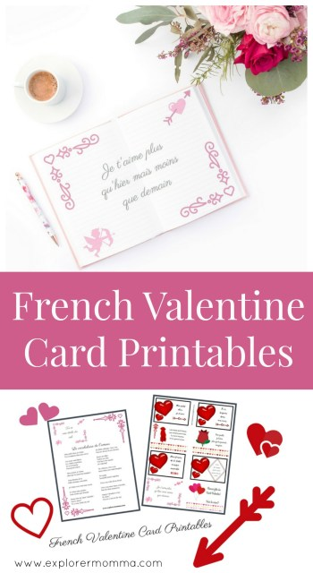 Valentine card printables