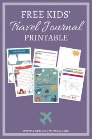 Free Kids' Travel Journal