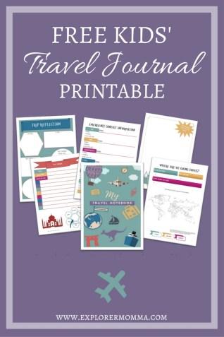 Free Kids' Travel Journal