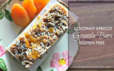 Coconut Apricot Gluten Free Granola Bars