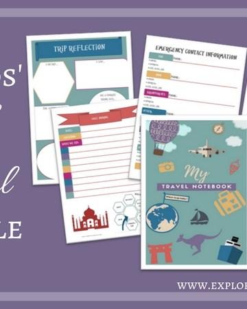 Free kids' travel journal printable