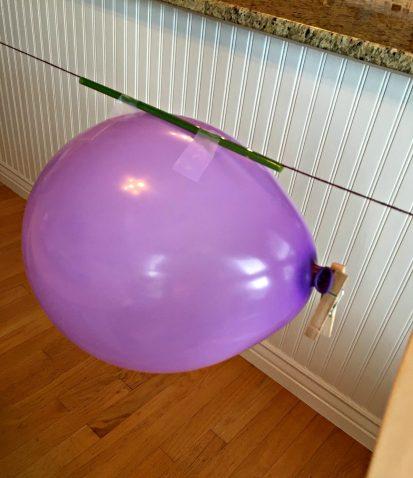 Green kid crafts balloon experiment