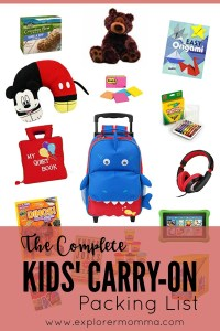 The Complete Kids' Carry-On with pictures of carry-on items