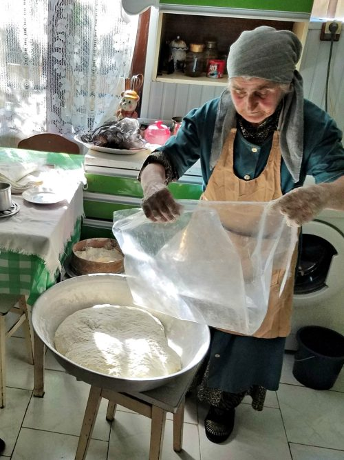 Preparing the dough
