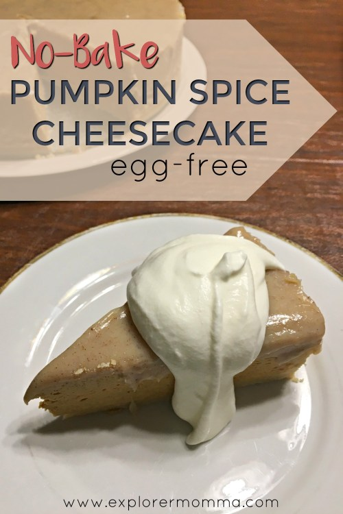 No-bake pumpkin spice cheesecake arrow pin