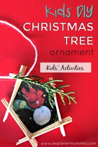 Kids' DIY Christmas Tree Ornament #diyornament #christmastree