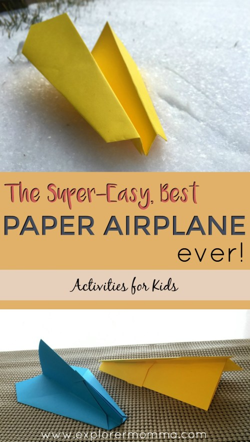 Best paper airplane ever pin